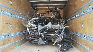 放置自転車等の撤去作業