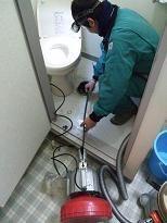 トイレつまり トーラー作業