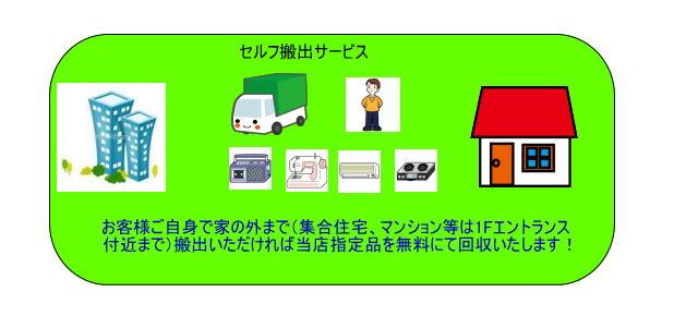 不用品回収仙台セルフ搬出サービス 仙台の便利屋